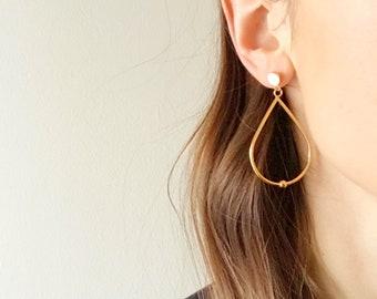 Teardrop Earrings - Hypoallergenic Titanium