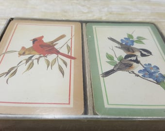 Standard Playing cards, vintage, Bird cards, 1970s, cape shore line