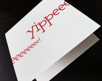 yippee : modern square greeting card