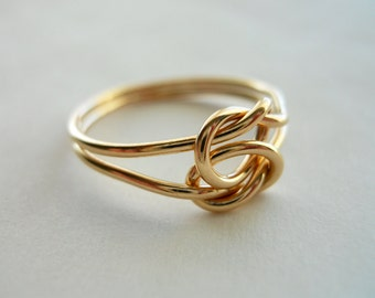 Love Knot - 14k Gold Filled Infinity Ring
