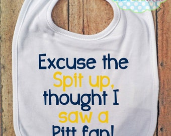Excuse the spit up Bib - West Virginia University - Football - Baby Fan Gear