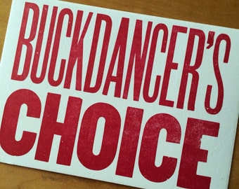 Old Time Music, cards for dancers, BUCKDANCER'S CHOICE, letterpress cards, greeting card, cards for musicians, clogging, James Dickey