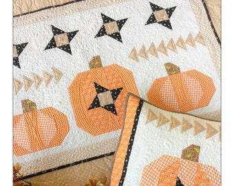 Pumpkin Sky - Quilt Pattern - CAQ-015 - Carried Away Quilting - Tanuja Kelvington
