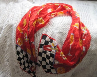 SCARF By Specialty House  100 % Silk Margarita Scarf, Accessory, Belt, /S/