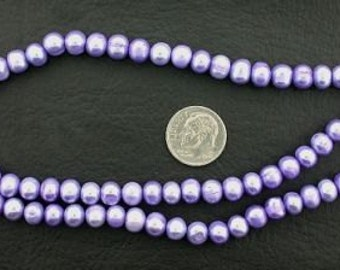 16 inch strand large purple freshwater pearls