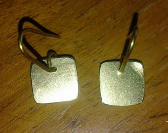 Minimalist Earrings in brass