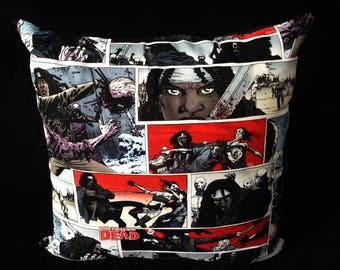 SALE! The Walking Dead Michonne Zombie Apocalypse Walkers Comic Strip Horror Halloween Gothic handmade home decor cushion pillow