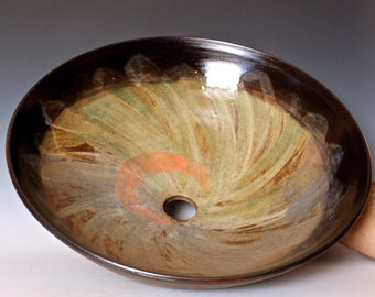 Large Pottery Vessel Sink, handmade sink, ceramic vessel sink
