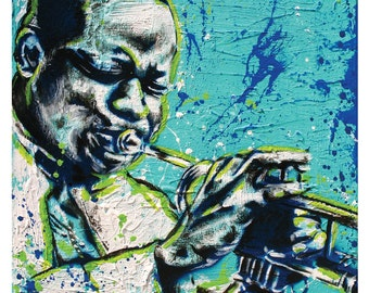 "Clifford ""Brownie""  Brown - Jazz Trumpeter - 12 x 12 HIgh Quality Pop Art Print"