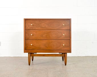 Mid Century Dresser, Vintage Mid Century Modern National Furniture Co. Mt. Airy Small 3-Drawer Dresser, Matching 6-Drawer Dresser Available