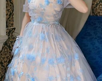 Lolita Fairy Midi Dress Summer Jumper Dress Ball Dress Wristlets Set*Black Blue