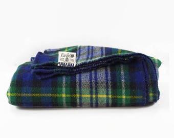 Vintage Wool Blanket, Rustic Lodge Decor, Faribo Wool Throw, Plaid Throw Blanket, Dress Campbell Tartan Blanket