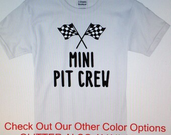 Mini Pit Crew shirt/onesie