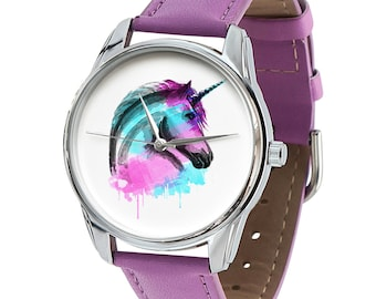 Unicorn Watch    Horse and Unicorn Lover Watch - Different Color Straps