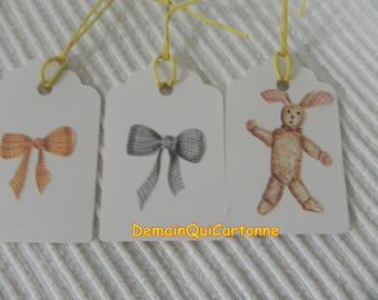 6 labels cardstock front Deco child back to write