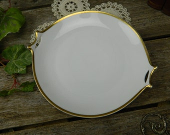 Antique Norfolk Hutschenreuther Selb Bavaria 2 Handled Serving Plate - Platter