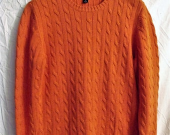 Tommy Hilfiger Sweater/ Cotton Cable Knit / Retro TH Sweater/ Thrifted Couture/ XL Sweater/ Vintage Chic/ Shabbyfab Retro Funwear