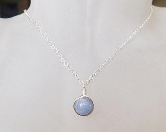Aquamarine Necklace , March Birthstone Necklace , Gemstone Necklace