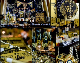 Gatsby New Year Party Kit - Instant Download
