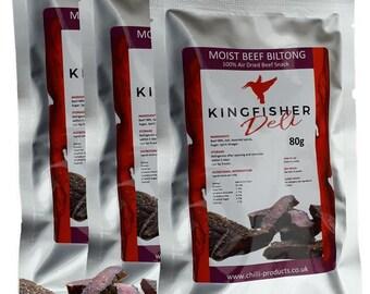 Soft & Moist Rump Biltong - Beef Jerky (3 x 80g packets)