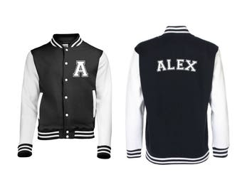 Personalized Initial and Name Varsity Jacket, Letterman Jacket