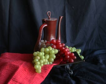 """Memories of Old Wine. A Still Life Photograph presented on 7"""" x 5"""" Blank, Bi-fold Note Card"""