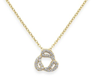 Drops necklace - yellow gold