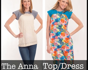 Anna Top and Dress PDF Sewing Pattern