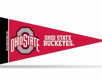"Ohio State Buckeyes NCAA Mini Pennants, 4"" x 9"""