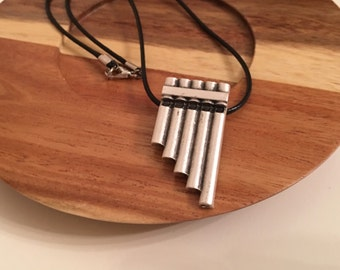 Antique Silver Pan Flute Necklace, Best Kids Gifts, Silver Jewelry, Jewelry, Happy Valentines Day Gift, Best Gift, Children Gifts, Birthday