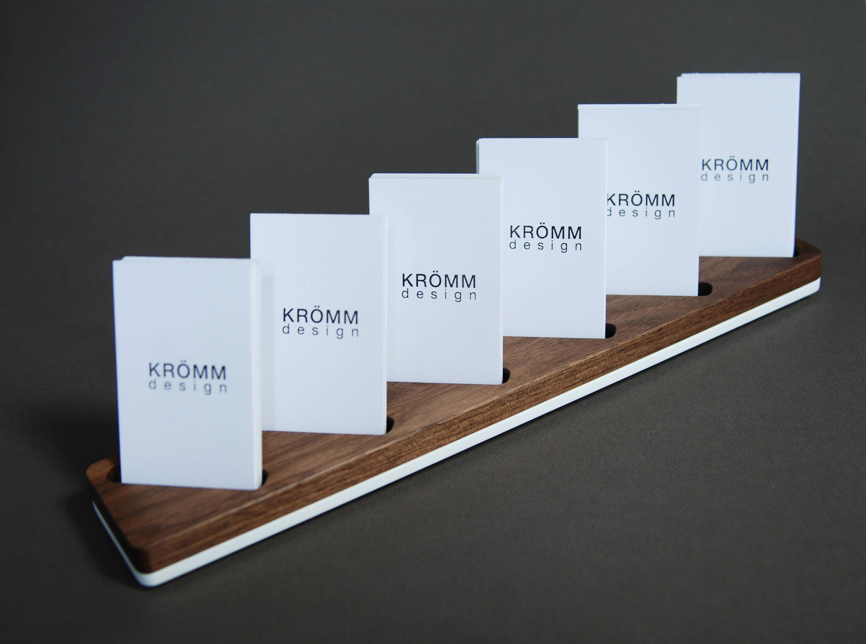 Multiple Vertical Business Card Display / Walnut and Acrylic ...