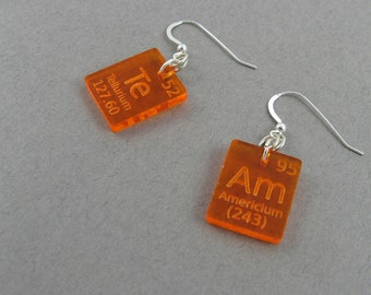 Science Lab Jewelry - Periodic Table Earrings - Team Chemistry Gift for Lab Tech, Science Teacher