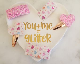 YOU CHOOSE Glitter Snap Clip Heart Snap Clip Valentine Hair Clip Toddler Hair Clip Pink Clip Glitter Clip Valentine's Day