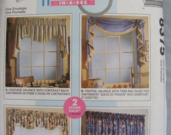 51% OFF Uncut Window Treatment / Valance McCall's Sewing Pattern 8375
