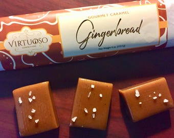 Gingerbread: Gourmet Caramel Bar - 4oz (113g) | Gingerbread Caramel | Gift
