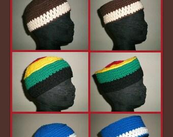 Kalifa Kufis (MADE TO ORDER) - prayer caps, skull caps, beanies, headhuggers