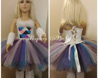 Abominable Snow Girl Tutu Dress Set