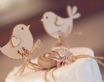 We Do Rustic Wedding Cake Topper Bird Wooden Best Seller