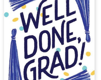 Well Done, Grad! • single card