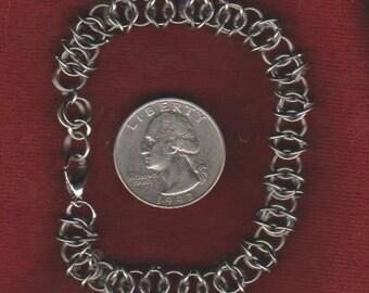 """Diamond Weave Bracelet Stainless Steel - 7"""" Length"""