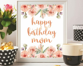 Happy birthday cards for mom printable anniversary birthday