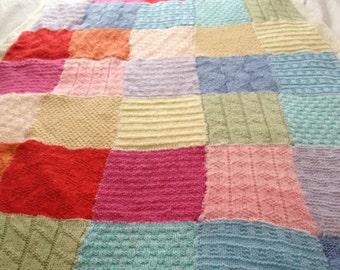Patchwork Baby Blanket Knitting Pattern, PDF, Instant Download, 11 patterns!