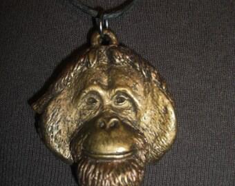Orangutan Face Pendant necklace
