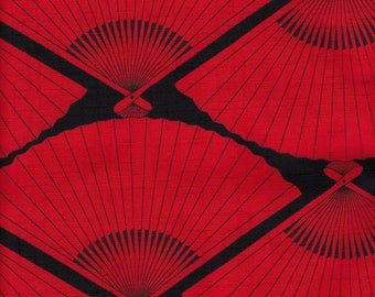 Fabric L50cm W108cm Japanese Fan design