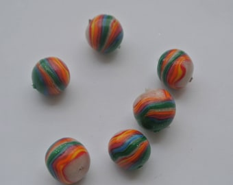 set five bead polymer clay