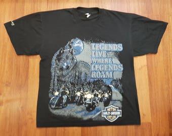 Vintage Harley Davidson Shirt, 90s Harley Shirt, Size Mens XL