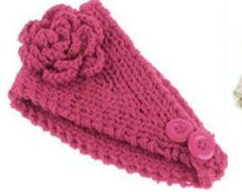 HEADBAND Pattern Earwarmer Pattern Wide Hair Band Headwrap Pattern Headband Crochet Flower Pattern KNITTING PATTERN