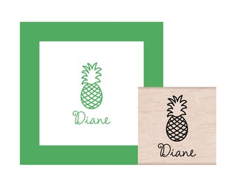 Pineapple Personalized Rubber Stamp
