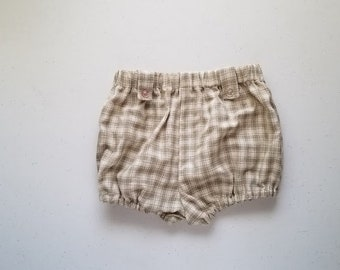 SALE Infant Tab Bloomers in Green Plaid by Papoose Clothing