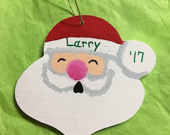Santa Christmas ornament.  Personalized with name & year.